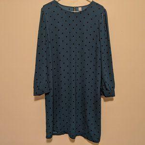 Polka Dot Shift Dress (0013)